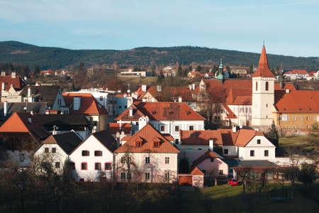 Cesky Krumlov - the famous Czech city, 版權商用圖片