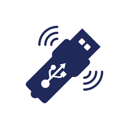 wireless connection: Wireless usb stick concept illustration icon. Wireless usb internet connection concept illustration icon.