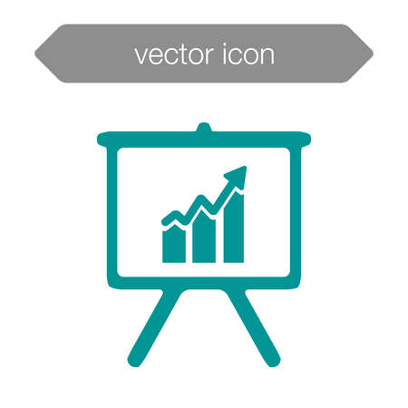 learning icon: Blackboard icon. Education icon. Presentation board icon. Chart board icon. Business icon. Stock Photo