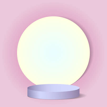 Beautiful luxury pink background with shapes and a pedestal to add your subject