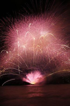 pyrotechnic displays: fireworx in Tel-Aviv Stock Photo