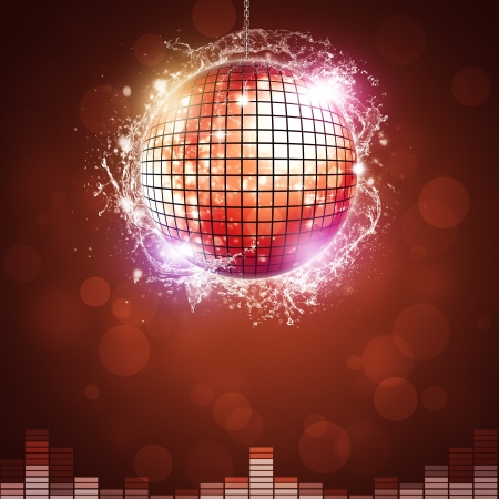 music disco ball background for night club parties photo