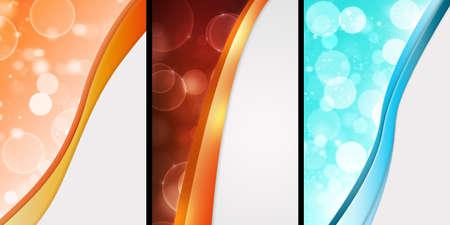 set of colorful backgrounds of digital bojeh lights Фото со стока