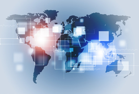 abstract connections technology and business communication background