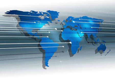 uniting: abstract global digital communication modern technology background Stock Photo