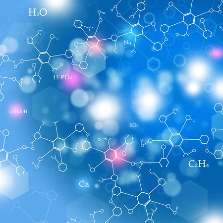 abstracte technologie en wetenschap achtergrond met chemie elementen
