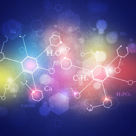 green chemistry: abstract green technology and science background with chemistry elements Stock Photo