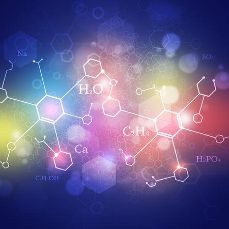 quimica: tecnolog�a verde abstracto y la ciencia de fondo con elementos de la qu�mica