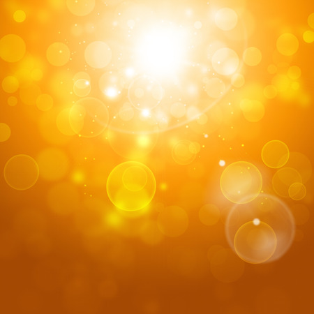 ourdoor: abstract autumn yellow sunny blurry lights on golden background