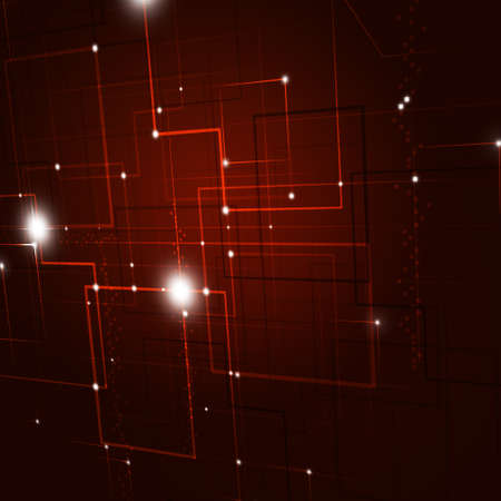 intertainment: Abstract Technology lines and lights red Background Stock Photo
