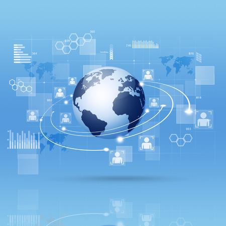 tecnolog�a informatica: concepto de interfaz digital de las conexiones y comunicaciones web globales