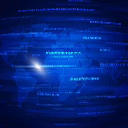 security technology: abstract global security code blue technology bacground Stock Photo