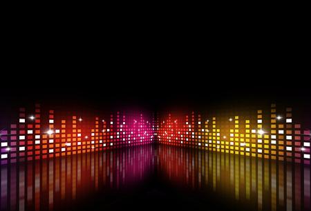 アクティブな夜のパーティーのための抽象的な音楽の背景 写真素材