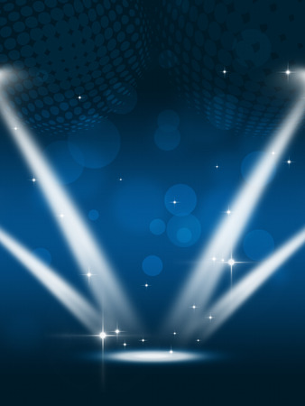 party spotlights music background for flyers and nightclub posters Standard-Bild