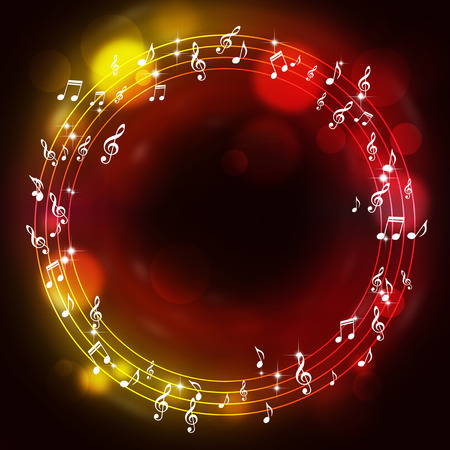 abtract music notes multicolor background for joyful events