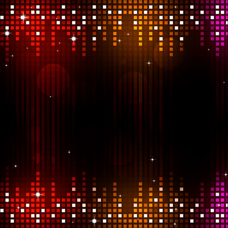 multicolor music equalizer background for active parties Stock Photo