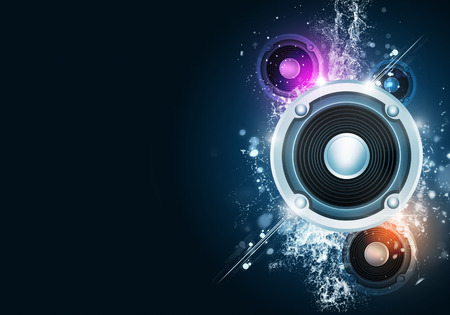 party music background for flyers and nightclub posters