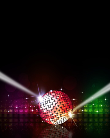 abstract multicolor music disco background for party events photo