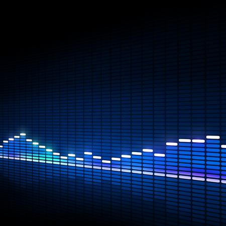 blue music equalizer background for active dance events Standard-Bild