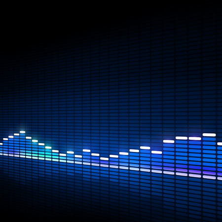 blue music equalizer background for active dance events Archivio Fotografico