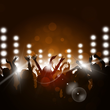 background card: party music background for active sunny events