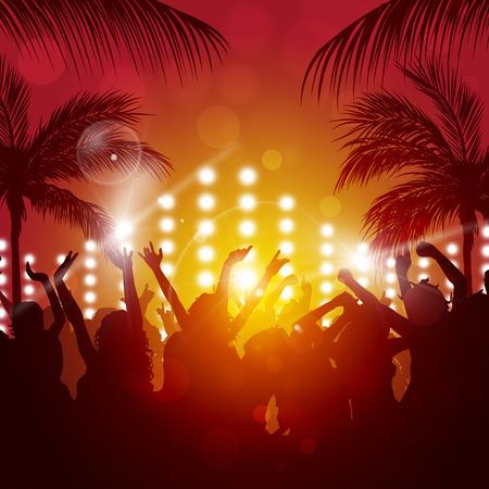 アクティブな夜のイベントのためのビーチ パーティー音楽の背景