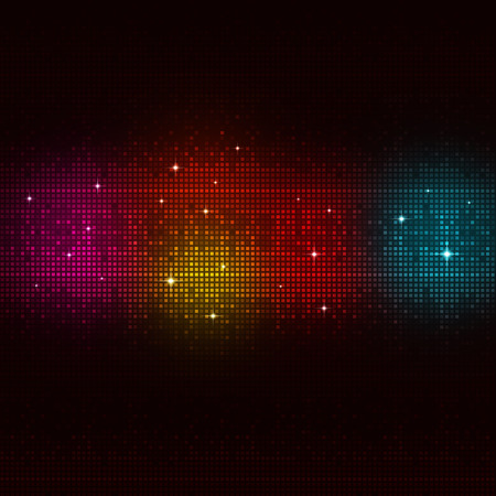 abstract digital equalizer multicolor music background for active parties