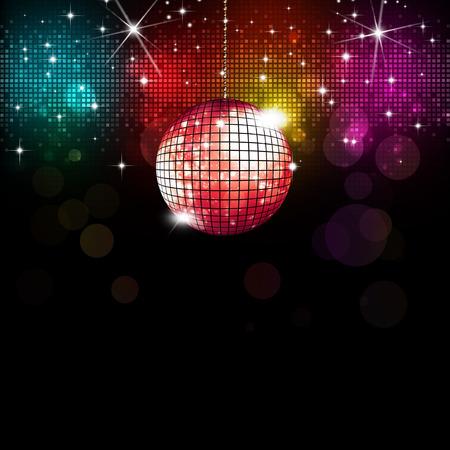 multicolor disco party muziek achtergrond met lichten en vervaagt