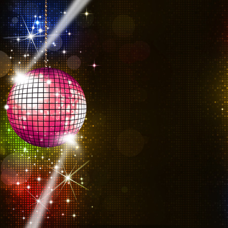 disco ball multicolor music background for active party events photo