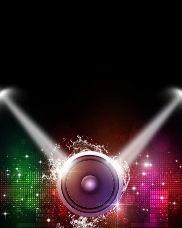 abstract multicolor music background for active parties photo