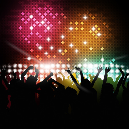 party music background for active nighttime event photo
