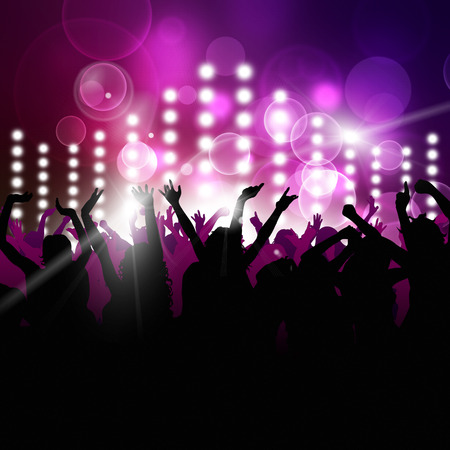 party music background for active night events Standard-Bild