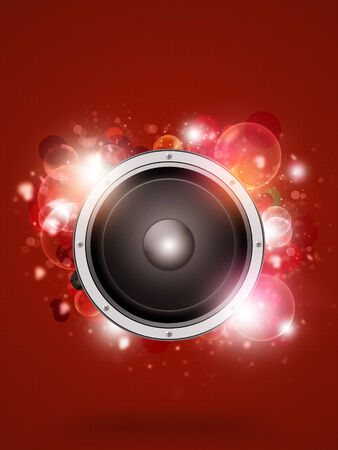 blinking: funky abstract music background with colorful bokeh lights