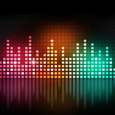 coloful music equlizer background for active parties Imagens
