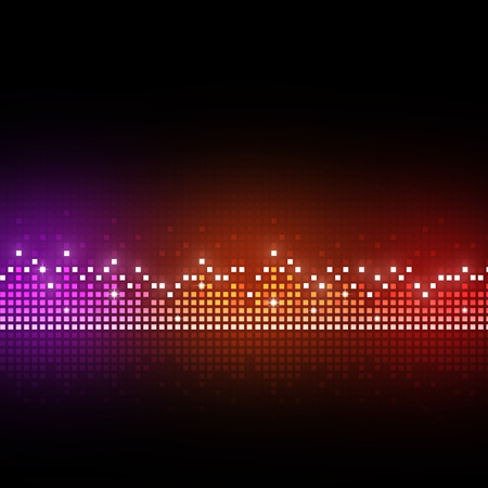 music abstract: music equlizer background for different joyful events
