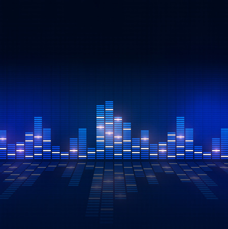 music equlizer background for active nighttime events