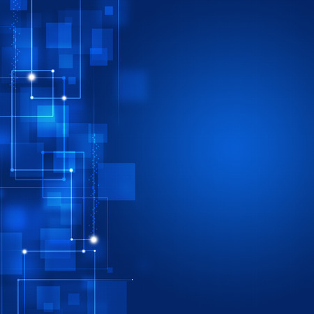 abstract technology square shapes business  blue background