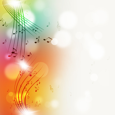 abtract music notes multicolor bright background for joyful events