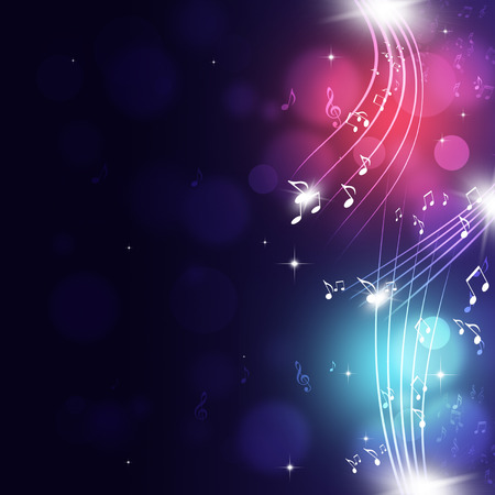 abtract music notes multicolor background for party events Standard-Bild