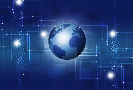 businees: abstract technology and businees concept information background