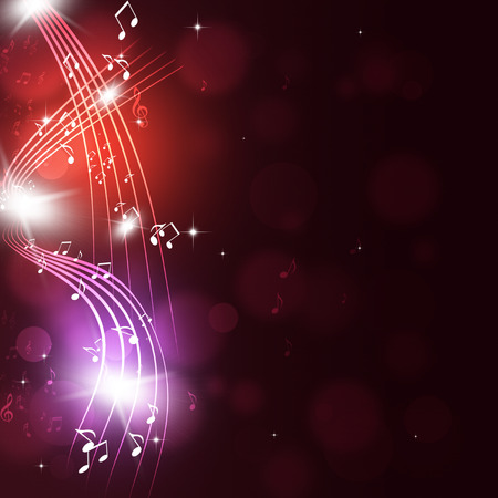 abtract music notes multicolor background for party events Archivio Fotografico
