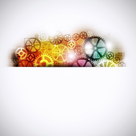 time management: abstract technology and business concept multicolor machine gears