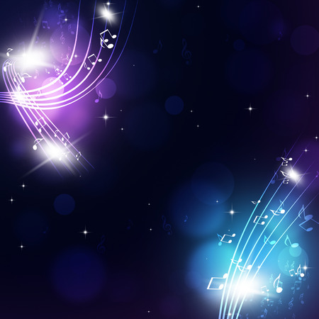 abstract music notes multicolor background for party events