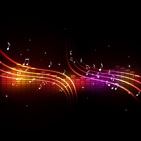 equalizer with music notes background for active dance events Banco de Imagens - 34645515