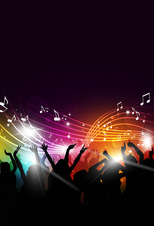 abstract party music background for flyers and night club posters Standard-Bild