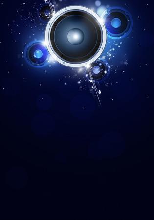 feestmuziek blauwe achtergrond voor flyers en nachtclubaffiches
