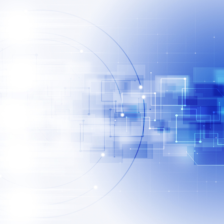 abstract technology global network connection blue background