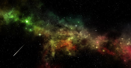 imaginary: imaginary deep space multicolor nebula stars and planets