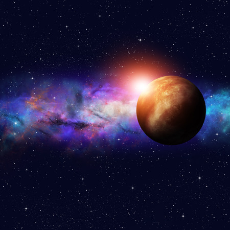 imaginary: imaginary deep space starfield image with stars and planets