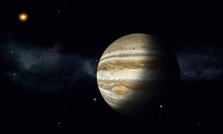moons: solar system gas giant jupiter with moons